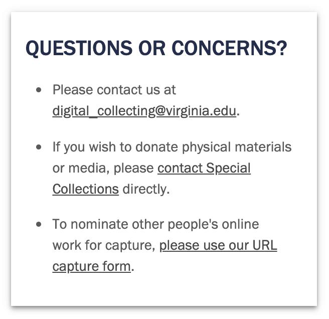Screen shot of public site content